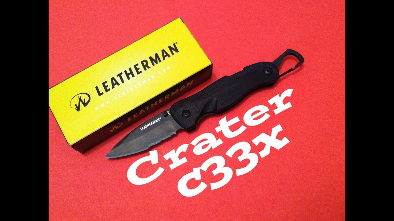 leatherman c33x how to close