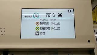 東京メトロ 9000系(更新車):N09市ケ谷 ゆき 東京メトロ南北線 N10飯田橋 → N09市ケ谷