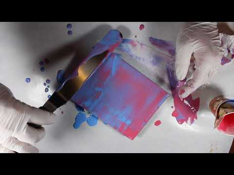 Acetone and Alcohol - Surface Experiments for Acrylic Pour Painting
