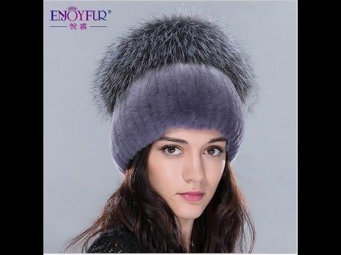 ec92b7acb95b Красивая вязанная меховая шапка с мехом чернобурки. Купить шапку