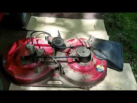 Murray Lawn Mower Drive Belt Diagram Mercury 115 Wiring Replacing Belts On 1993 Rider Part 1 - Youtube