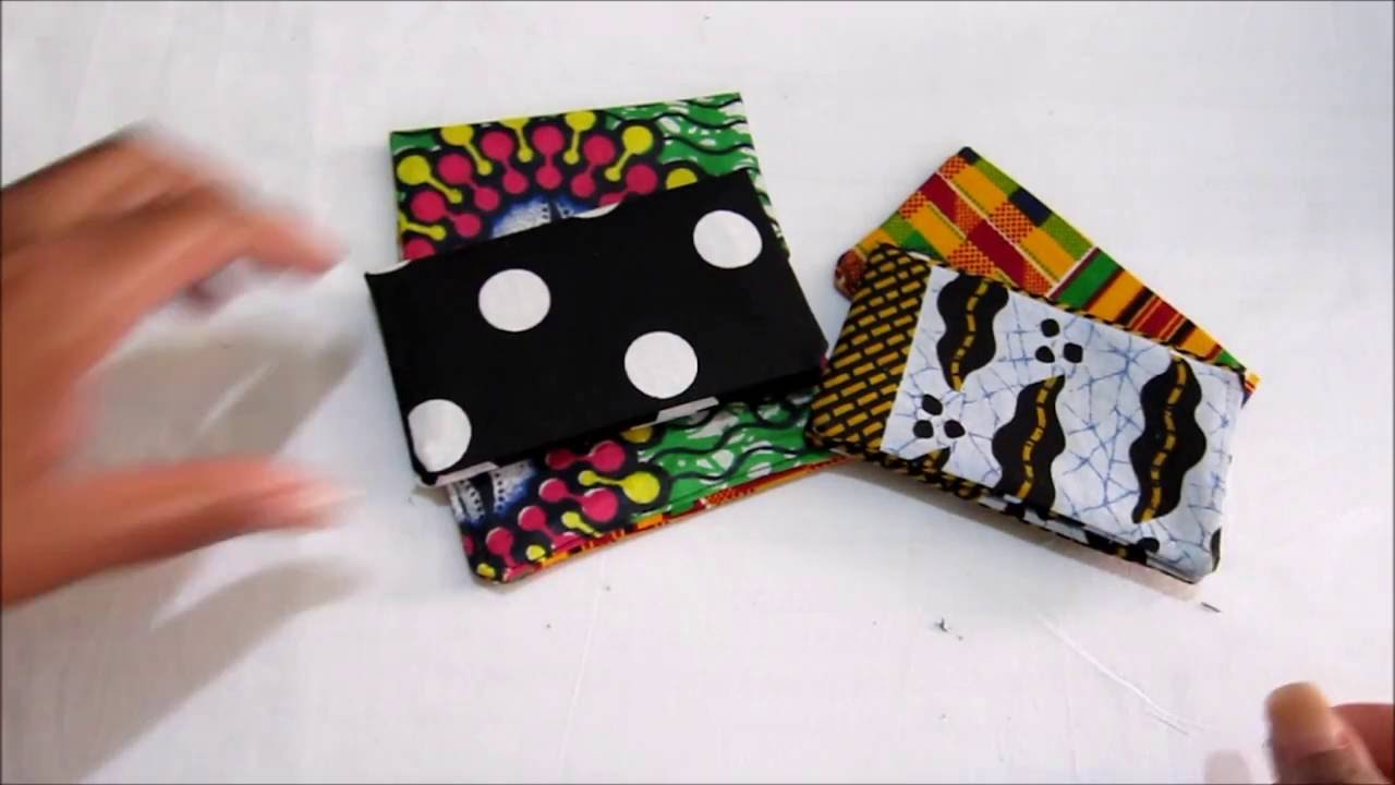 DIY Fabric Business Card Holder Tutorial - YouTube
