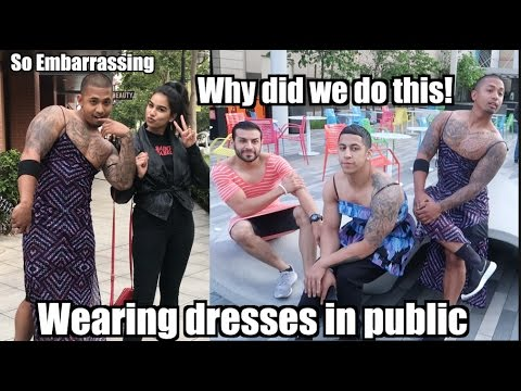Men Wearing DRESSES in PUBLIC| Lost a Bet| SnewJ