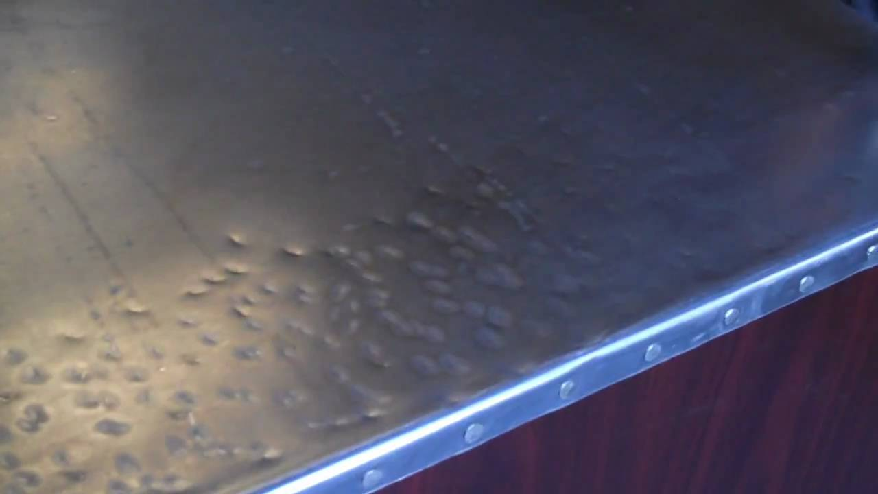 Patina A Zinc Sheet Or Countertop Part 1 Youtube