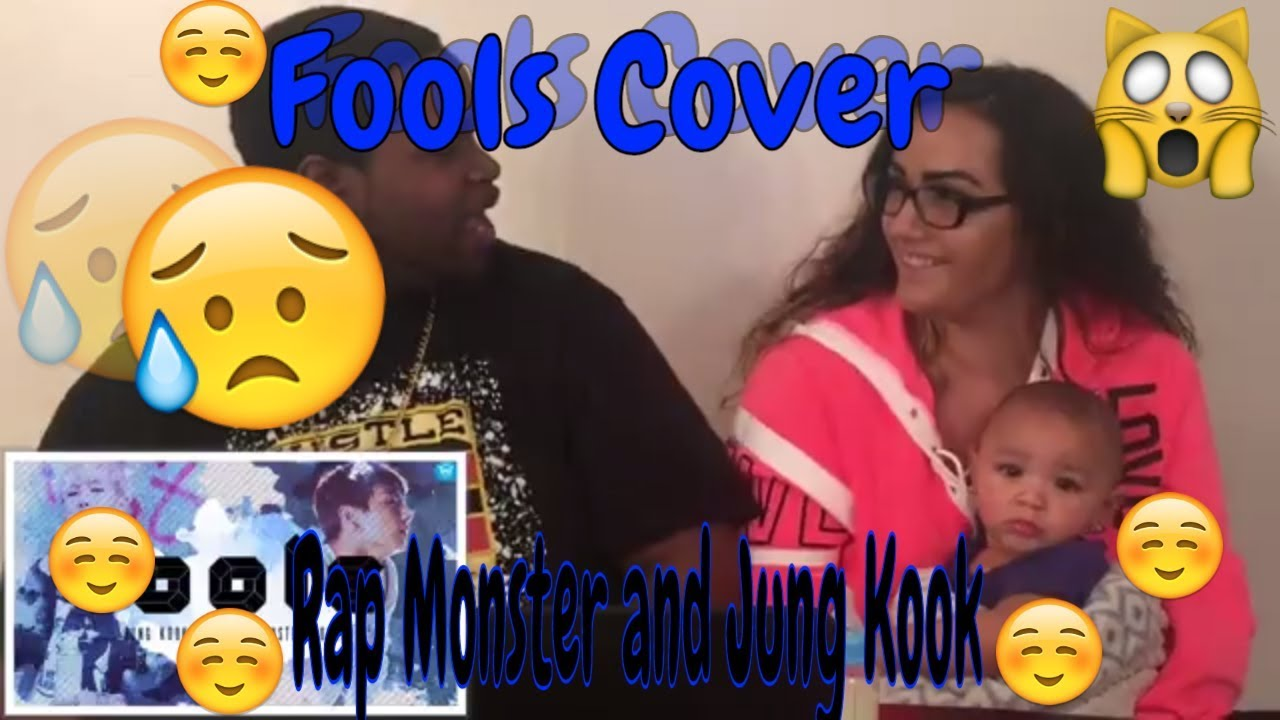 Rap Monster and Jung Kook Fools Cover(Lyrics) REACTION