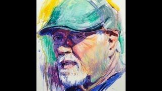 Watercolor and gouache. Portrait.
