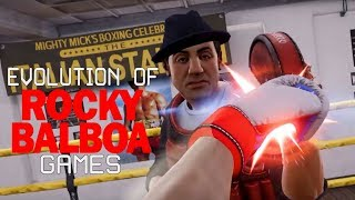 Graphical Evolution of Rocky Balboa Games (1983-2018)