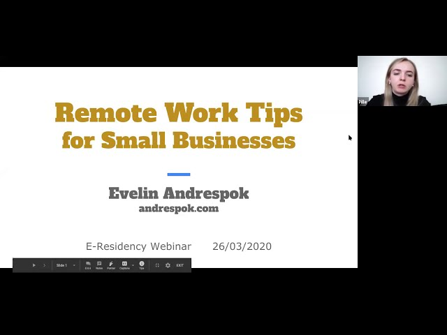 E-Residency Webinar: Remote Work Tips for Small Businesses