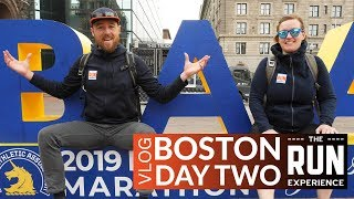 Boston Marathon Vlog   Day 2 - Finish line, THE expo, & our favorite gear!