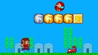 Alex Kidd in Miracle World HD remake (HiSMS) gameplay - The Village of Namui