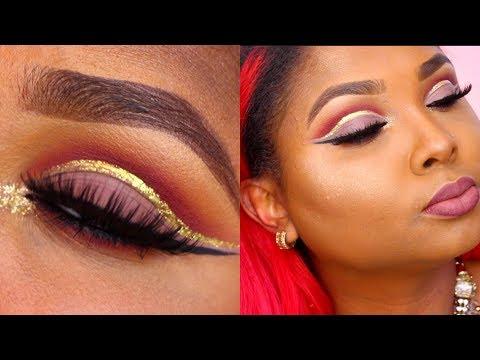 PROM Makeup tutorial - Pop of Gold Cut crease - Queenii Rozenblad