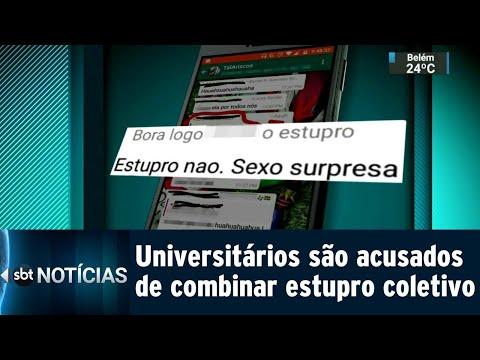 Estudantes são acusados de combinar estupro coletivo via aplicativo | SBT Notícias (09/08/18)