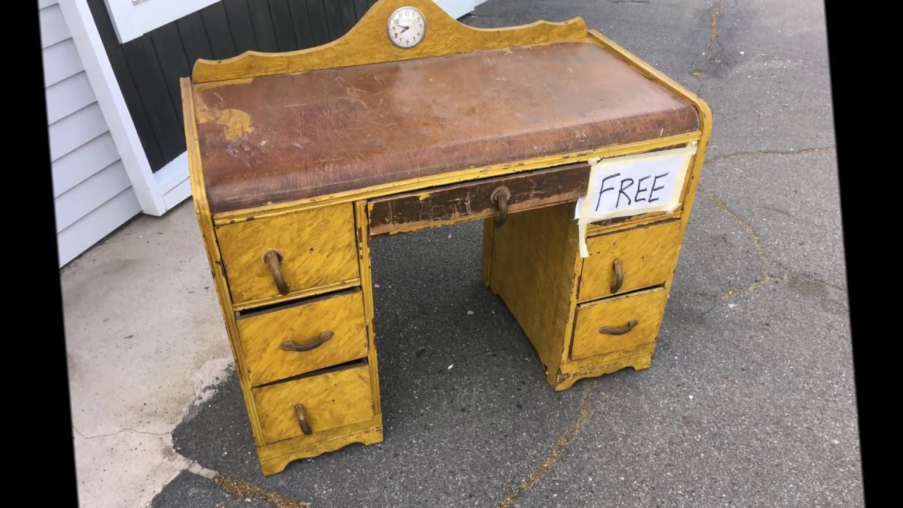 RESTORATION - ANTIQUE ART DECO VANITY/DESK - RESTORATION - ANTIQUE ART DECO VANITY/DESK - YouTube