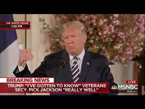 Trump Throws His Nominee To Be VA Secretary Under The Bus