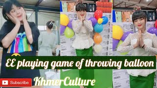 EE are playing game with throwing balloon be funny | Khmer Culture