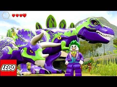O CORINGA TEM UM TIRANOSSAURO REX E UM TRICERATOPS no LEGO Jurassic World EXTRAS MUNDO ABERTO #40