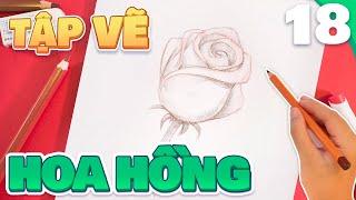 Tập Vẽ Hoa Hồng | How to Draw a Rose | Họa Sĩ Tí Hon