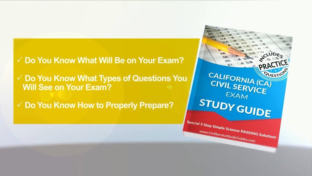 california ca exam civil service test study guide youtube rh youtube com ASVAB Study Guide ASVAB Study Guide