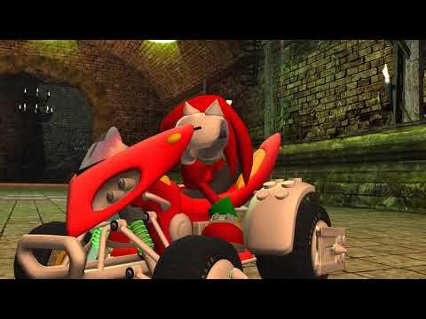 Knuckles Vs Shadow Sonic & Sega all star racing 4K |
