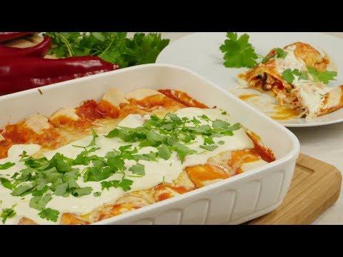 Enchiladas Chicken & Beans | Leckerer Auflauf mit Tortillas
