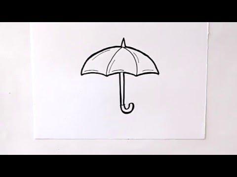 Cómo dibujar un Paraguas Dibuja Conmigo Dibujos de Invierno - YouTube
