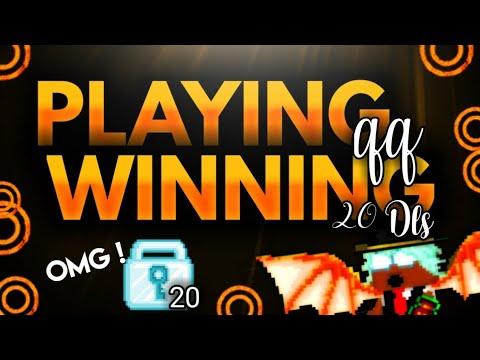 Playing QQ Winning 20DLS!?  Growtopia Casino