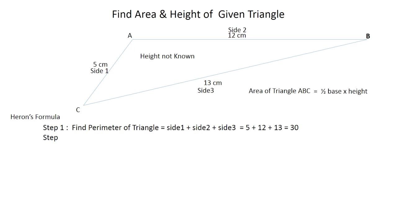 Area height of scalene triangle youtube area height of scalene triangle ccuart Image collections