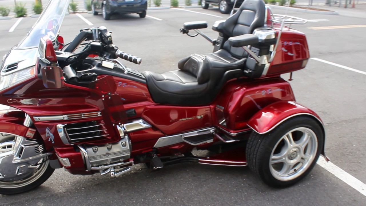 sold 1999 honda goldwing gl1500 aspencade with trigg trike kit start up and review youtube. Black Bedroom Furniture Sets. Home Design Ideas
