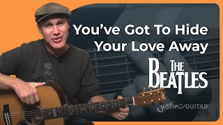 How to play Hide Your Love Away by The Beatles (Guitar Lesson SB-403)