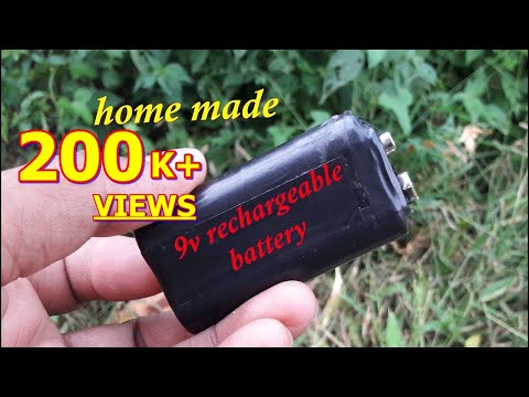 How to make 9volt Battery , rechargeable