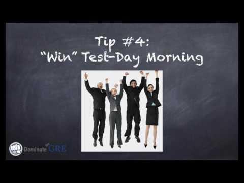 Last-Minute GRE Tips