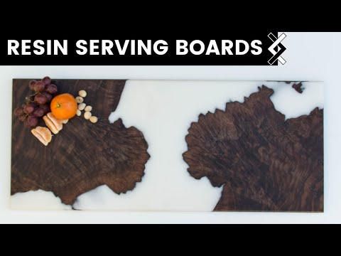 White Resin Serving Board—DIY Charcuterie Boards—How to Woodworking
