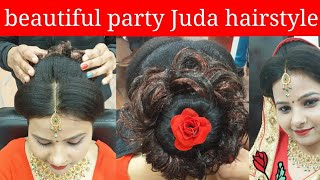 beautiful party Juda hairstyle (step by step)