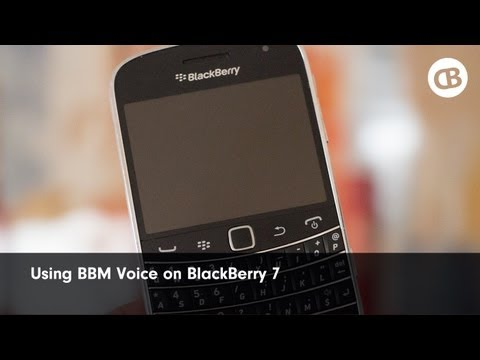 Using BBM Voice On BBM 7