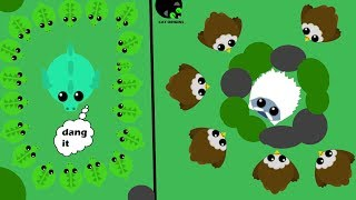 TRAPPING ANIMALS WITH EAGLE AND WRECKING DRAGONS WITH CROCODILE! // Mope.io // Cat Origins