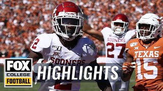 CeeDee Lamb leads No. 6 Oklahoma over No. 11 Texas in Red River Showdown | HIGHLIGHTS | CFB ON FOX