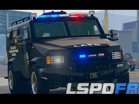 GTA 5 LSPDFR 0.3 - Pacific Bank Heist Standoff (LAPD SWAT Patrol)