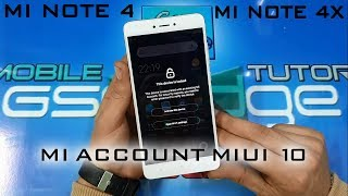 MICLOUD XIAOMI REDMI NOTE 4/4X MIUI10 HOW TO BYPASS MI ACCOUNT ONLY ON GSMEDGE