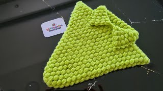 The easiest knitting pattern with collar handmade