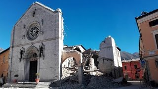 Italy earthquake flattens historic San Benede...