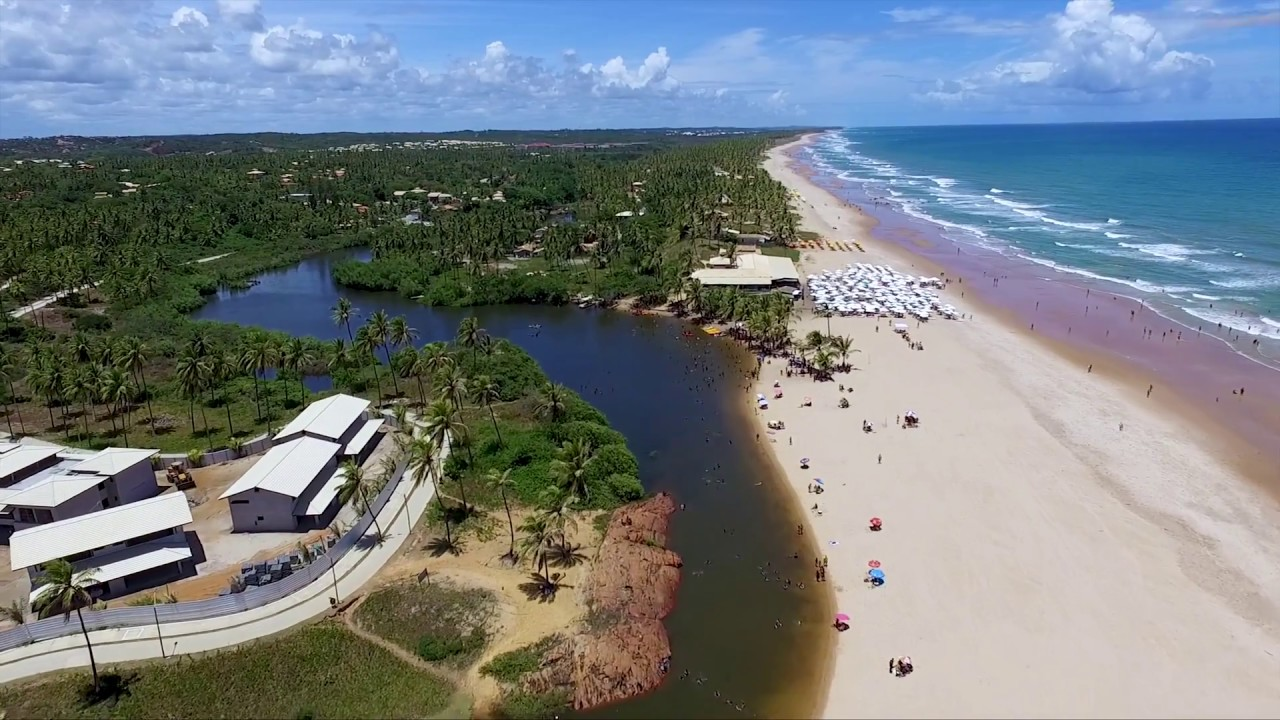 Um Drone Em Imbassaí Litoral Norte Da Bahia Youtube