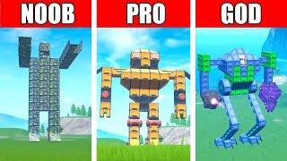 Fortnite NOOB vs PRO vs GOD: GIANT ROBOT EVENT CHALLENGE in Fortnite