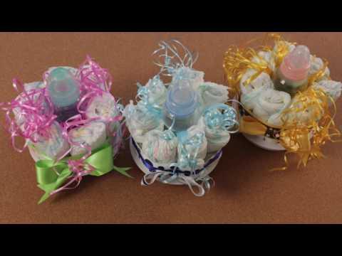 Decoración para Baby shower con pañales - Manualidades