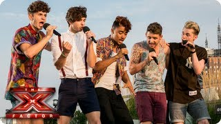 Kingsland Road sing Dance With Me Tonight by Olly Murs -- Judges Houses -- The X Factor 2013