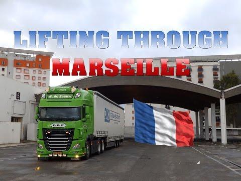 Lifting Through Marseille - Viva La France - W.de Zeeuw Transport
