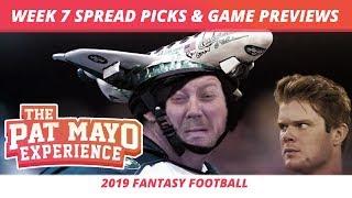 2019 Fantasy Football — Week 7 Spread Picks, Game Previews, NFL Predictions, Best Movie Snacks