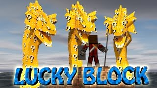 Minecraft | LUCKY BLOCK BOSS CHALLENGE - 3 Headed Hydra! (Hydra, Bosses, Mythical Mobs)