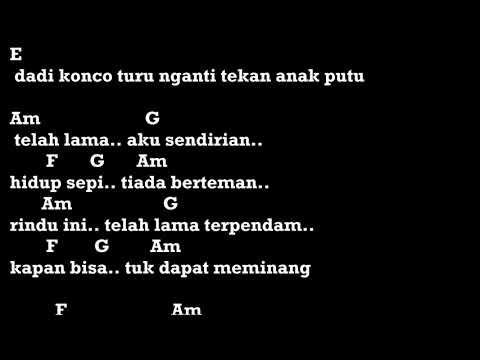 Konco Turu Jihan Audy Chord Lirik