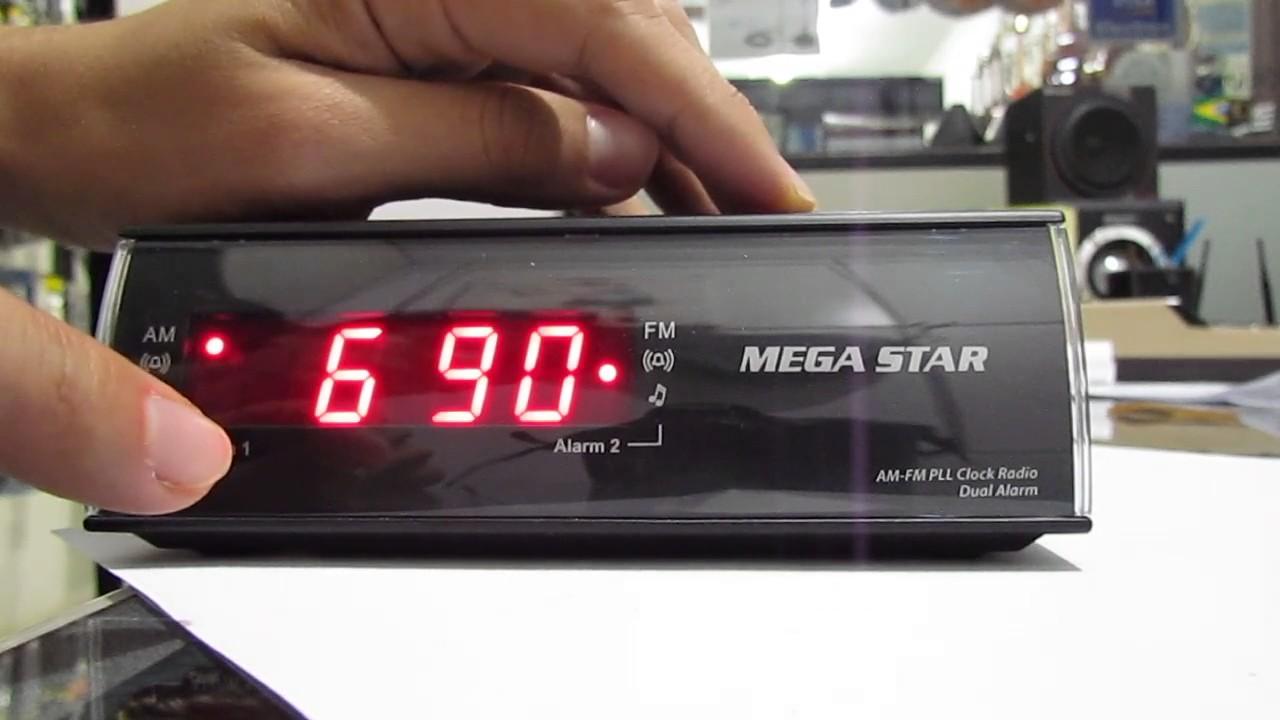 683419b4e19 Radio relógio Mega Star FRC-455 110 220V - YouTube