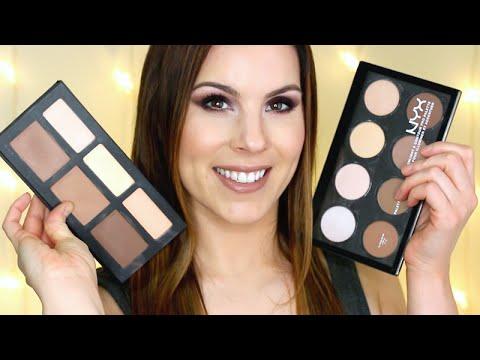 Save or Splurge?! Kat Von D Shade+Light Palette vs NYX Highlight & Contour Pro Palette